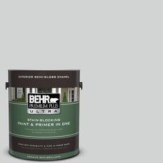 BEHR Premium Plus Ultra 1-gal. #780E-3 Sterling Semi-Gloss Enamel Exterior Paint