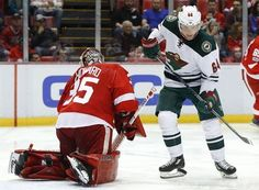 AP                  Published 3:40 p.m. ET March 26, 2017 | Updated 2 hours ago        Detroit Red Wings goalie Jimmy Howard (35) stops a Minnesota Wild center Mikael Granlund (64) shot in the third period of an NHL hockey game, Sunday, March 26, 2017, in Detroit. (AP Photo/Paul...  http://usa.swengen.com/red-wings-beat-reeling-wild-3-2-in-ot/