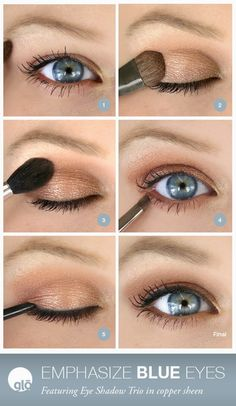 Makeup for Blue Eyes - glo minerals #glominerals #blueeyes #howto