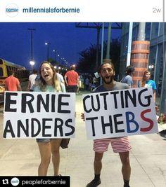 Bernie cuts the BS ;)  #BerniePics #Bernie2016 #Millennials4Bernie
