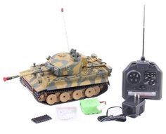 RC German Battle Tank 1/24 Tiger 1 WWII Airsoft Metal Cannon Shoots 6mm BB's NEW