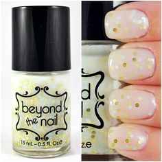 #Blessed - White Crelly Nail Polish with Gold & Mint Glitter