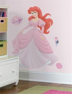 Ariel Giant Peel & Stick Wall Decal, Wall Stickers, Art for Girls