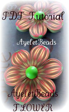 PDF tutorial - polymer clay- AyeletBeads flowers. $7.50, via Etsy.