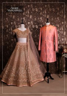 One more combination for you guys !! Bride and the groom pair.Stunning bridal lehenga and blouse with net dupatta.For Order (or) To Enquiry: 9000777796Email : sashivangapalli@gmail.com 23 May 2018