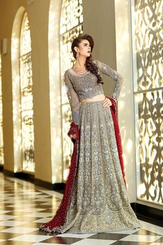 Wedding season is already in full swing and everywhere we look designers and fashionistas have stepped up their bridal game with the most opulent formals capturing current trends and the divinity o… Pakistani Wedding Outfits, Bridal Wedding Dresses, Pakistani Dresses, Indian Dresses, Pakistani Couture, Maria B Bridal, Pakistan Bridal, Traditional Fashion, Asian Fashion