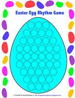 Easter Egg Rhythm Game - make rhythm addition cards, fill up easter egg with tokens