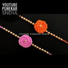 Rakhi Making, Handmade Rakhi, Rakhi Design, Raksha Bandhan, Making Ideas, Easy Crafts, Crochet Necklace, Homemade, How To Make