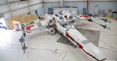 Lego unveiled a huge Star Wars X-Wing fighter ship -- made entirely out of LEGO bricks -- in Times Square.