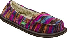 SANUK-Meltdown-Chill-Fur-Pink-Sidewalk-Surfer-Shoes-Slip-Ons-Womens-9-NEW-NWT