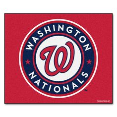 Fanmats Machine-Made Washington Nationals Red Nylon Tailgater Mat (5' x 6') (60 inches x 72 inches)