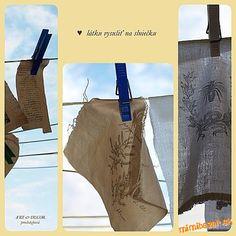 Technika zošúchavacia alebo ako dostať obrázok na textil Decoupage, Textiles, Reusable Tote Bags, Fabric, Prints, Handmade, Diy, Painting, Decor