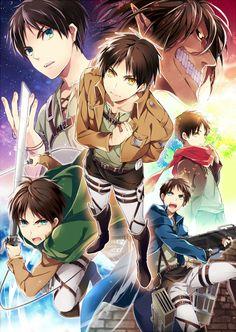 Tags: Anime, Saluting, Black Akazome, Shingeki no Kyojin, Eren Jaeger, Titan (Shingeki no Kyojin), Rogue Titan
