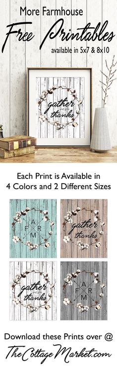 FARMHOUSE FREE Printables for your home!