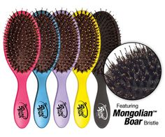 The Shine Brush - So you can always #ShineOn!  • Featuring Mongolian Boar Bristles • Brushes natural oils from your scalp through the hair. • Adds luster and shine • Great for brushing dry shampoo throughout the hair. • For thick, curly or straight hair.  www.thewetbrush.com