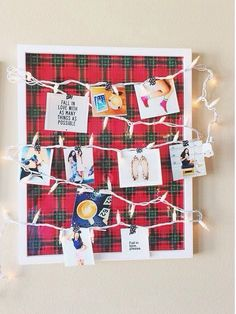 Christmas Memory Board | 20 DIY Christmas Bedroom Decor Ideas for Teen Girls