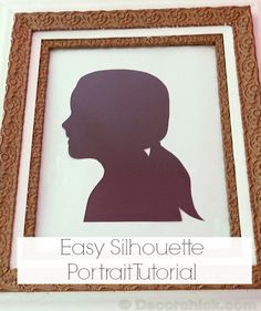 How to Make Silhouette Portrait | www.decorchick.com