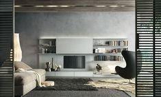 Mueble TV moderno / de cristal / de madera lacada - ABACUS by Giuseppe Bavuso - RIMADESIO