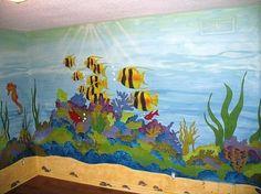 sea mural... kids room | Crafty