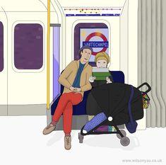 Pram, District line, November 2015 – Wilson Yau: I draw, teach and make stuff District Line, London Underground, November 2015, My Drawings, Tube, Family Guy, Victoria, Teaching, Park