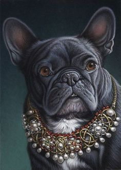 French Bulldog Art Plus French Bulldog Art, French Bulldogs, Images Vintage, Large Dog Breeds, Dog Paintings, Fauna, Pet Portraits, Cute Dogs, Dogs And Puppies