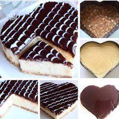 Malzemeler ;  İrmikli Muhallebi Için:  1 litre süt 1 su bardağı irmik 1 su bardağı şeker 1 paket vanilya 50 gr. Tereyağı Tabanı İçin:  2 paket yulaflı bisküvi 100 gr. Tereyağı Üzeri İçin:  1 paket (200 ml.) krema 200 gr. sütlü çikolata