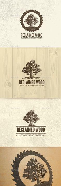 Reclaimed Wood Oak Tree Rough Artisan Logo — Photoshop PSD #handmade #workshop • Download ➝ https://graphicriver.net/item/reclaimed-wood-oak-tree-rough-artisan-logo/19687046?ref=pxcr