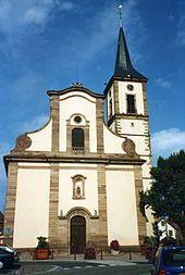 église Sainte Marguerite de Geispolsheim . Alsace
