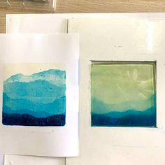 Gel Plate Printing Tip - mountain ranges Gelli Plate Printing, Gelli Arts, Music Paper, Plate Art, Art Forms, Art Lessons, Making Ideas, Printmaking, Tapestry