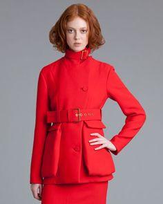 Belted Crepe Jacket by Marni at Bergdorf Goodman. Mmmmmm, Marni. $2070.00