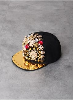 75f2ad8c518 Mens Spikes Rivets Studded Button Leopard Snapback at Fabrixquare