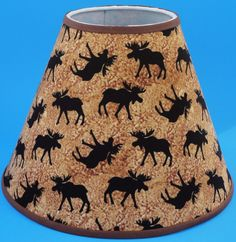 Adirondack moose deer bear lamp shade large 16 x 16 cottage moose handmade lampshade lamp shade handmade traditional aloadofball Gallery