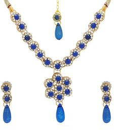 Buy Majestic Blue Designer Necklace for Navratri necklace-set online
