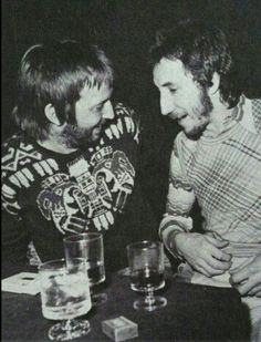 Eric Clapton with Pete townshend (=