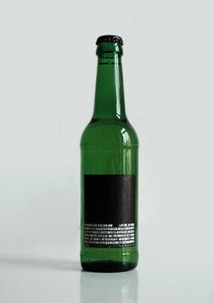 Premium beer (bottle without logo, just the ingredients)