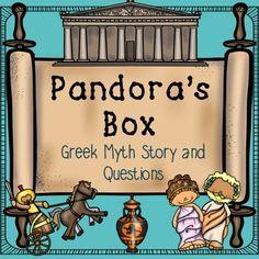 Greek Mythology- Pandora's Box Greek Mythology- Pandora's Box Greek Mythology Freebie 6th Grade Social Studies, Teaching Social Studies, Teaching History, Greek Myths Stories, Myth Stories, Greek History, 4th Grade Reading, Pandoras Box, Thinking Day