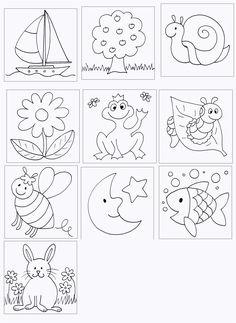 Einzigartig Memory Drucken #Färbung #Malvorlagen #MalvorlagenfürKinder Baby Embroidery, Cross Stitch Embroidery, Embroidery Designs, Drawing For Kids, Art For Kids, Doodles, Applique Patterns, Digi Stamps, Coloring Book Pages