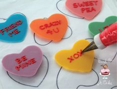 Bird On A Cake: Conversation Heart Cupcake Toppers