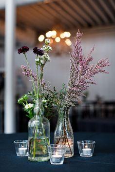Purple wildflower wedding centerpiece | Boyfriend/Girlfriend Pictures | Rubies and Ribbon http://www.boyfriendgirlfriendpictures.com/