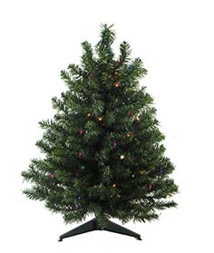 3 PreLit LED Natural TwoTone Pine Artificial Christmas Tree  Multi Lights *** Learn more by visiting the image link.