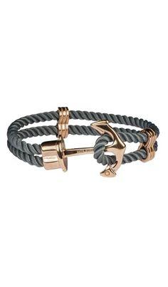 hafen klunker anker armband echtes matrosenflechtwerk verschluss mit einem stylischen anker aus rosegoldenemedelstahl ein toller