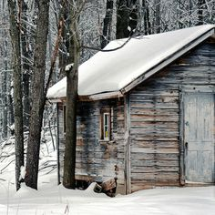 Wood Shed, winter time Winter Cabin, Cozy Cabin, Snow Cabin, Cozy Winter, Cabana, Cabin In The Woods, Wood Shed, Little Cabin, Winter Wonder