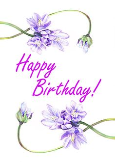 Happy Birthday - Sweet and Purple - http://fineartamerica.com/featured/3-happy-birthday-irina-sztukowski.html