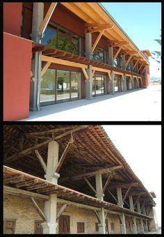 Antes y después de la rehabilitación de una caserna en Gurb con el panel sándwich THERMOCHIP® | #panel #madera #wood #rehabilitacion #architecture