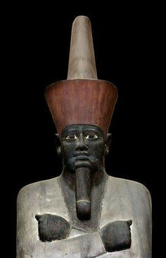 Bust of Pharaoh Mentuhotep II. XI Dynasty of the Middle Kingdom of Egypt.Reign 2061- 2010 B.C. •Egyptian Museum of Cairo•