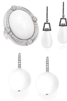 Who says you can't wear white after Labor Day. Check out our gorgeous White Agate pieces on our website..