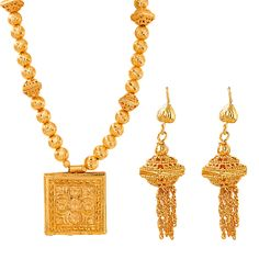 Buy Nilanjan Arts 18K Gold Plated Handmade Necklace Set, DC32 at 129 AED - AWOK Online Store