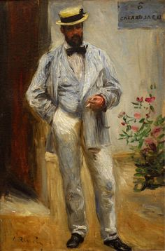 Pierre Auguste Renoir, (French impressionist)  Charles Le Coeur, 1874