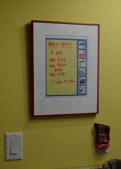 personalized dry erase board to leave notes and lists on