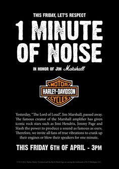 Harley Davidson: One Minute of Noise